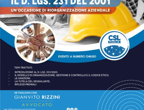 Il D. Lgs n. 231 del 2001 in webinar per 15 aziende