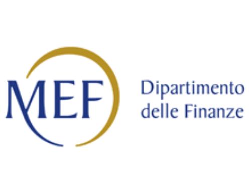 """Mef """"Moratoria su mutui e potenziamento Fondo Pmi"""""""
